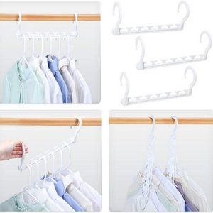 12x - HOUSE DAY  WHITE SPACE SAVING HANGERS